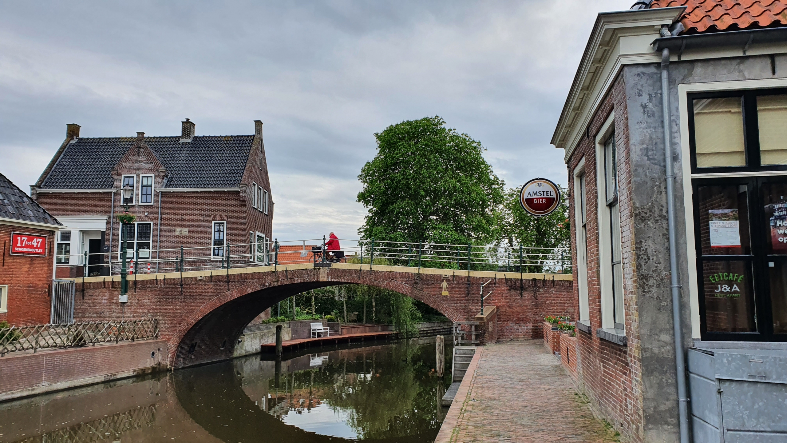 Brug over Winsumerdiep in Winsum