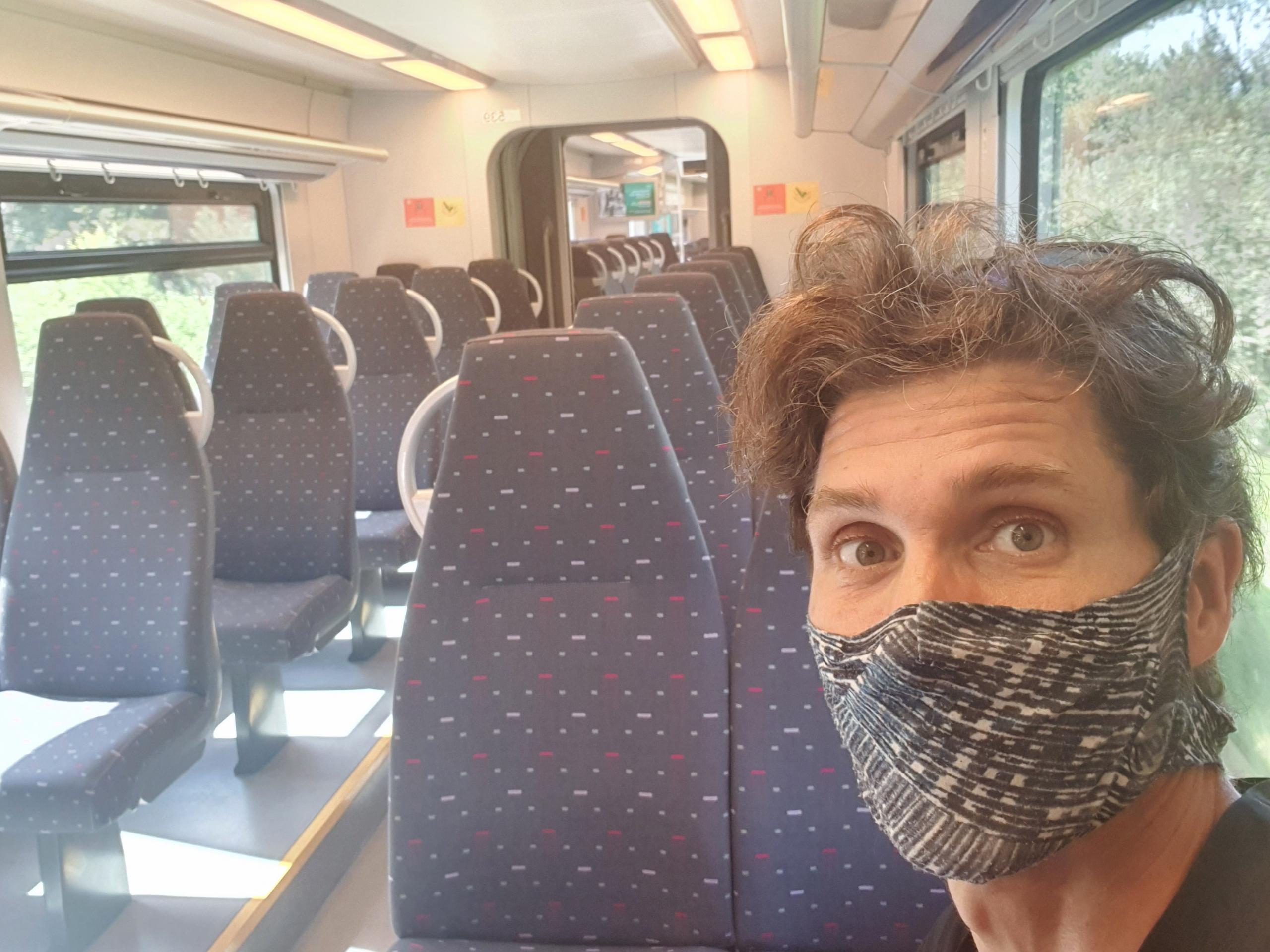 Alleen in de trein